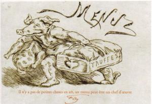 Félicien Rops, Le Cochon truffier, citation / lettre 3 janvier 1881