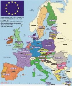 Carte de l'Europe des 27