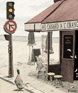Le canard à l'orange, illustration d'Antoine Moreau-Dusault, Historia n° 877